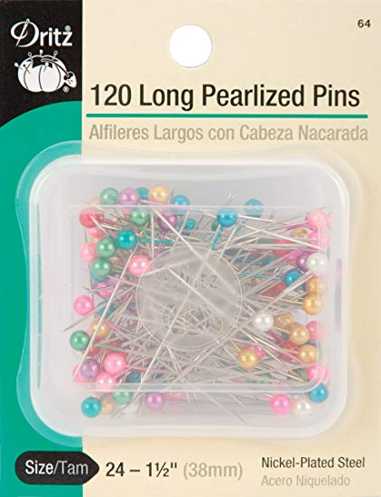 "Pearlized Pins, 1-1/2"", 120pc"